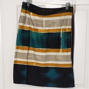 Ivanka Trump colorblock knit pencil skirt EUC 8